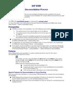 SAP EWM Deconsolidation Process