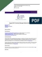 August 2013 VMN Newsletter