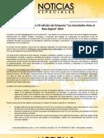 """Colciencias apoyará la VII edición del Simposio """"Las Sociedades Ante el Reto Digital"""" 2014"""