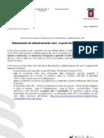 Prov. Siena - Comunicato Addestramento Cani