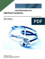 MRCP(UK) 2013 Regulations