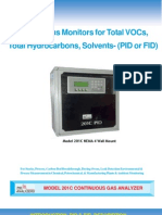 Continuous Analyzers for Total VOCs, Total Hydrocarbons, Solvents- (PID or FID)