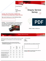 Survey for Enquiry Services
