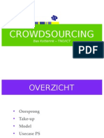 Presentatie Bas Kotterink van TNO over crowdsourcing-model
