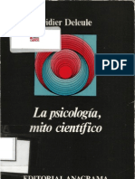 Deleule, Didier - La Psicologia, Mito Cientifico