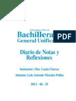 Diario de Notas y Reflexiones BGU Por Luis Morales Pullas