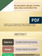 acupuncture for persistent allergic rhinitis
