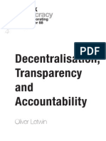 Decentralisation, Transparency and Accountability