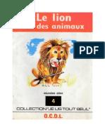 Je lis tout seul Série 02 No 04 Le lion roi des animaux 1972