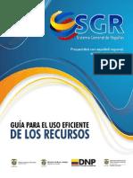 Guía de uso eficiente de recursos del SGR_ DNP