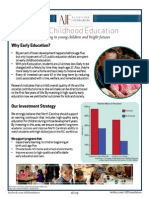 Early Child Education Initiative Onepager