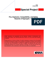 SP-084-1999 (Fire, Explosion, Compatibility, And Safety Hazards of Hypergols - Hydrazine)