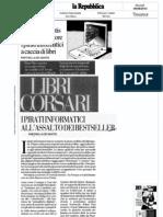 Libri corsari, la pirateria dei libri, ne parla Raffaella De Santis su la Repubblica