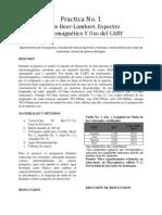 1. Ley de Beer-Lambert