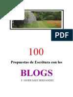 100 Propuestas de Escritura Con Los Blogs Copia Para Examen