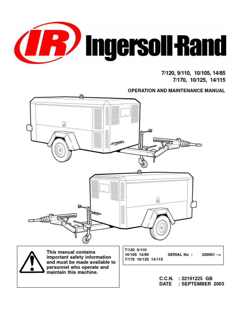 ingersoll rand portable diesel compressor operation manual valve rh es scribd com Ingersoll Rand Rollers Ingersoll Rand Lcbv389702 Manua