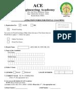 RegistrationFormV4 GATE Postal Coaching