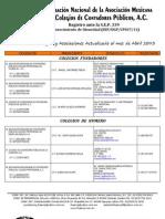 Colegios y Asociaciones Fnamcp Abril 2013