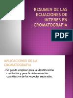 RESUMEN DE LAS ECUACIONES DE INTERES EN CROMATOGRAFIA.pptx