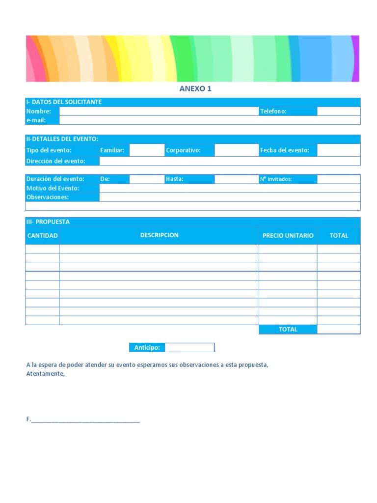 Excepcional Plantilla De Contrato De Planificación De Eventos ...