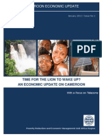 Cameroon Economic Update No.1, January 2011