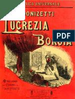 Donizetti borgia - Vocal score