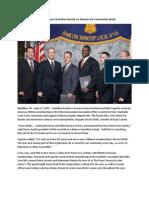 Local PBA Honors Hamilton Honda Co-Owners for Community Work