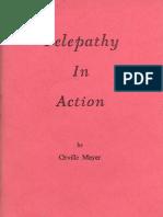 Orville Meyer - Telepathy in Action
