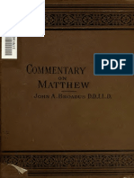 American Commentary on the New Testament, Matthew, Broadus