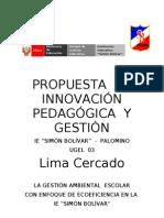 PROPUESTA  DE INNOVACIÓN PEDAGÓGICA  Y GESTIÒN