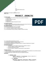 Proiect de Lectie a XI Energia Electrica