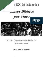 BI 13 Conociendo Su Biblia IV - Alumno