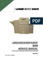 Ricoh Aficio 551-700 Service Manual