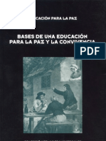 BASES DE UNA EDUCACIÓN PARA LA PAZ Y LA CONVIVENCIA