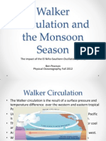 Walker Circulation and Monsoon Season in India
