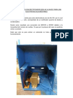 Transformador Con Rectificador 220v Ac a 24vdc Para Una Electrovalvula Biestable