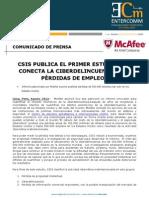 NP McAfee -CSIS publica el primer estudio que conecta la Ciberdelincuencia con pérdidas de empleos