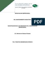 Investigacion de Negociacion Empresarial
