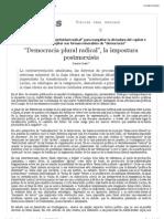 """Democracia plural radical"", la impostura postmarxista"