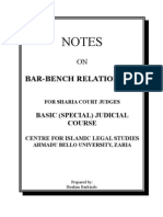 Notes on Bar-Bench Relationship