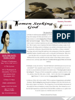 women seeking god newsletter--august 2013