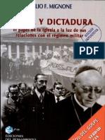 Iglesia y Dictadura - Mignone