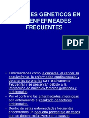 factores genéticos de la diabetes pdf