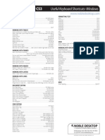 Dreamweaver CS3 Windows Shortcuts
