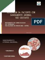 Abordagem a Paciente Com Sangramento-Chirlei