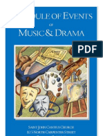 Schedule of Events of Music and Drama Web