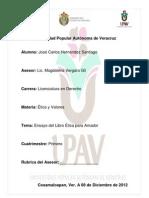 Ensayo de Jose Carlos de Etica Para Amador
