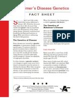 Alzheimer's Disease Genetics Fact Sheet