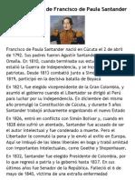 Biografia Francisco de Paula Santander
