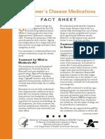 Alzheimer's Disease Medications Fact Sheet